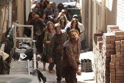 Fotograma de The walking dead, serie emitida en el canal Fox.