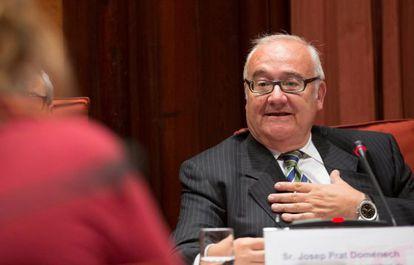 Josep Prat, en la comisión del Parlament que investigó las irregularidades en la sanidad pública.