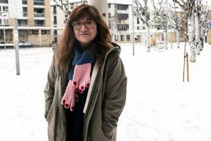 La cineasta Isabel Coixet, esta semana en la plaza de Tudela (Navarra).
