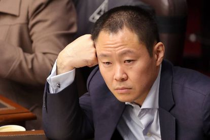 Kenji Fujimori durante la sesión que votaba retirarle la inmunidad.