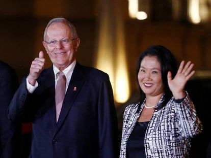 El presidente peruano Pedro Pablo Kuczynski y la líder de la oposición Keiko Fujimori.