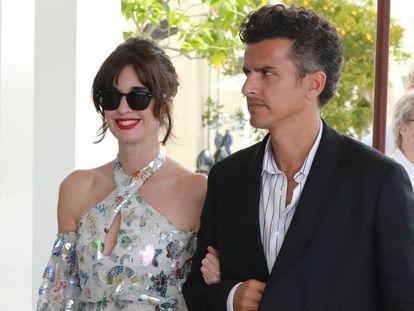 Paz Vega y su marido Orson Salazar, en el Festival de Cannes el pasado mayo.