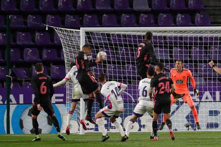 Casemiro, no jogo 0-1 em Valladolid.