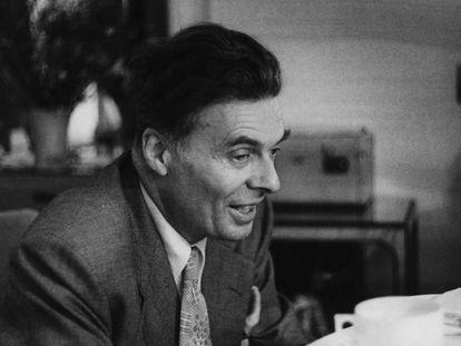 El escritor británico Aldous Huxley, maestro de la ciencia ficción, en 1948.