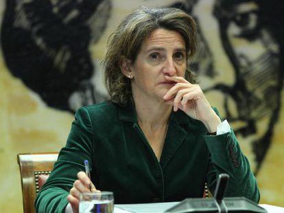 La ministra para la Transición Ecológica, Teresa Ribera, comparece en  el Senado.