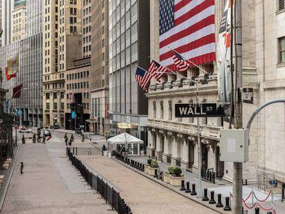 La sede de la bolsa neoyorquina, en Wall Street, el 22 de marzo.