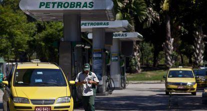 Una gasolinera de Petrobras en Río de Janeiro
