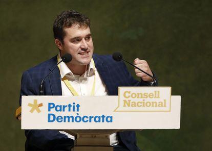 David Bonvehí, líder del PDeCAT, en un acto de partido el pasado mes de julio.