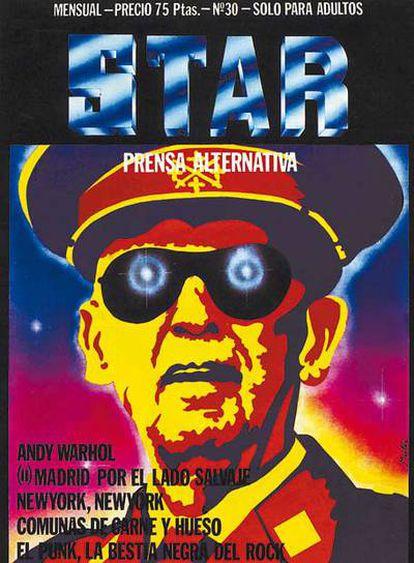 El caudillo visto por Montxo Algora en una de las portadas emblemáticas que resume la filosfía de <i>Star</i>.