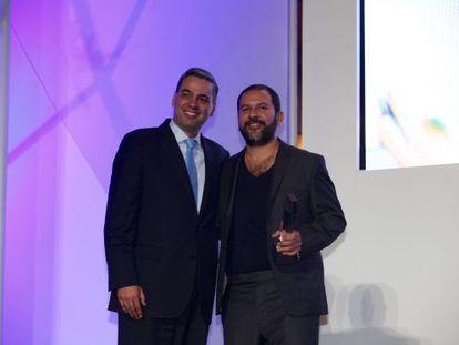 El chef Enrique Olvera, durante la gala de premios