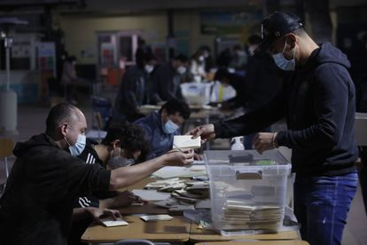 Officials are counting the votes in Santiago, Chile, this Sunday.