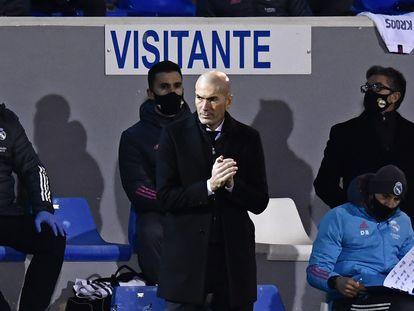 Zidane durante el partido ante el Alcoyano este miércoles.