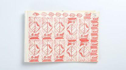 Cuadernos (1996), impresión de tinta de José Suárez Londoño.