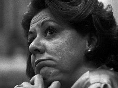 Rita Barberá en un pleno municipal de 1995, cuando era alcaldesa de Valencia.