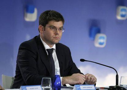 """Martin Sansaloni durante su intervención Mesa """"La reforma sanitaria como garantía de una sanidad pública de calidad""""."""