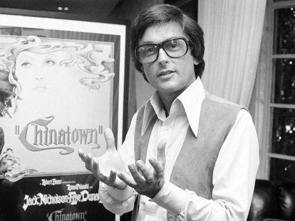 Robert Evans, en sus oficinas de Beverly Hills en 1974, en una entrevista sobre 'Chinatown'.
