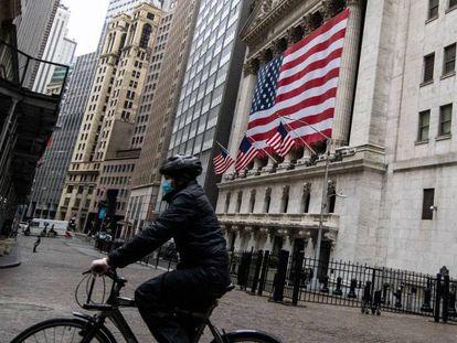 Imagen de la Bolsa de Nueva York, en Wall Street.