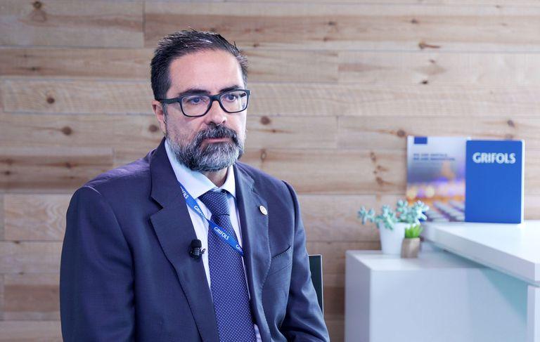 El farmacéutico Eduardo Herrero, presidente del área industrial de la División Bioscience de Grifols.
