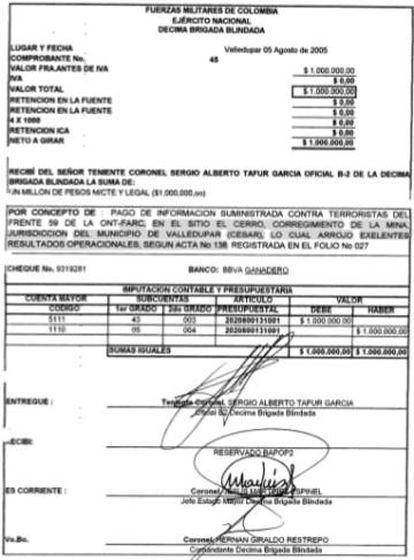 Orden de recompensa del 5 de agosto de 2005.