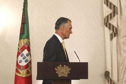El presidente portugués, Cavaco Silva.