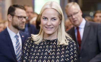 Mette-Marit de Noruega, en Alemania, el pasado mes de octubre.