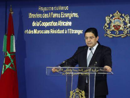 El ministro de Exteriores de Marruecos, Naser Burita, a mediados de enero en Rabat.