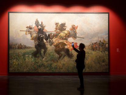 'Duelo entre Peresvet y Chelubei', del pintor Mikhail Ivanovich Avilov.