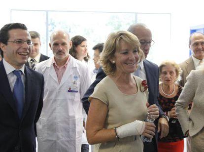 Aguirre, ayer en la inauguración de un centro de salud.