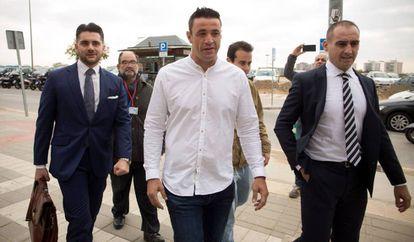 El dueño de la finca, David Serrano, a su llegada al juicio en julio.