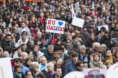 Manifestación en Santiago en el año 2012