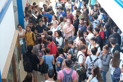 Pruebas de selectividad, el pasado mes de julio, en la Universidad de Sevilla.