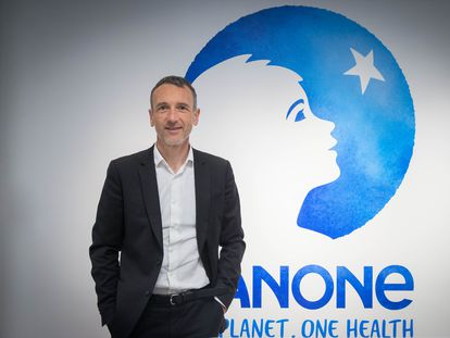 Emmanuel Faber, primer ejecutivo de Danone, en la última presentación de resultados.