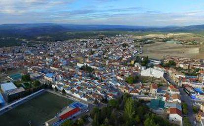 Vista aérea de Villanueva del Arzobispo (Jaén).