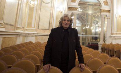 El cantaor José Mercé en la sala de conciertos de la Fundación Unicaja de Málaga, donde se ha presentado su nuevo espectáculo 'Mercé sinfónico'.