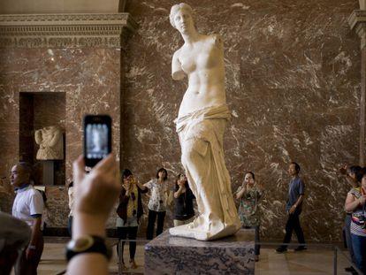 La Venus de Milo, en el Museo del Louvre.