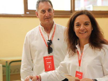 La alcaldesa de Getafe, Sara Hernández, el 26-M