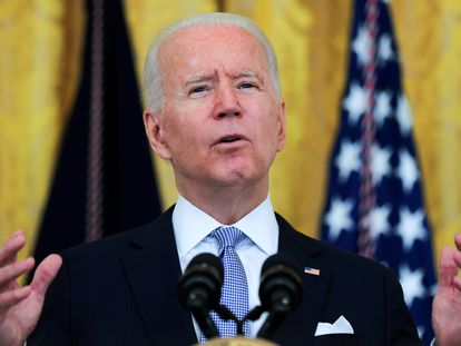 El presidente Joe Biden, durante su discurso sobre el coronavirus en la Casa Blanca.