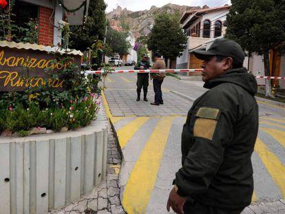 La zona residencial de La Rinconada, donde vive la embajadora mexicana en La Paz.