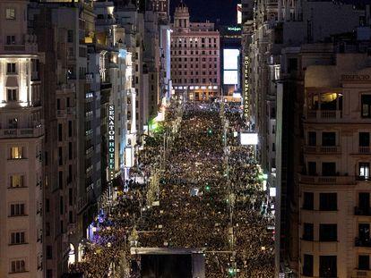 Manifestación por el día de la mujer celebrada este año en Madrid.