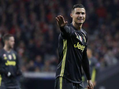 Cristiano, durante el partido en el Metropolitano. En vídeo, la declaración del portugués.