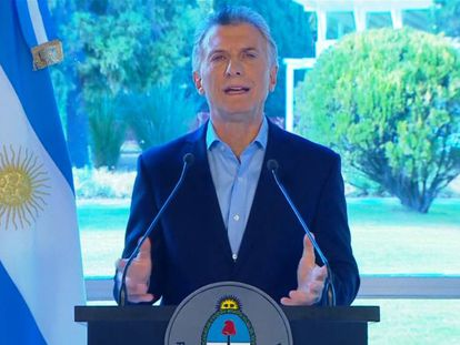 Mauricio Macri, en rueda de prensa, este miércoles.