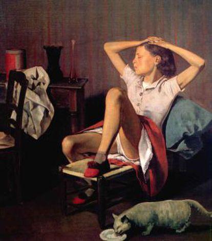 La pintura 'Thérèse dreaming' de Balthus.