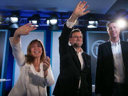 Sánchez-Camacho, Rajoy y Albiol, el año pasado en barcelona.