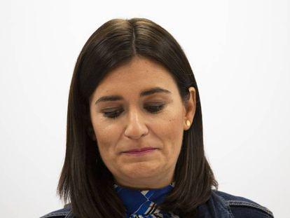 Carmen Montón, el martes al anunciar su dimisión.