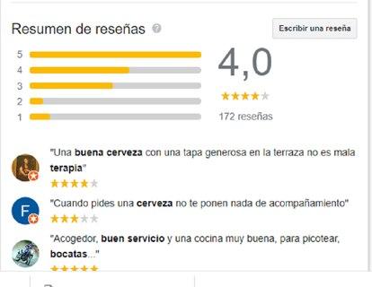 Así muestra Google las reseñas de los usuarios.