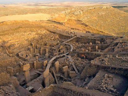 Imagen de las monumentales construcciones megalíticas de Göbekli Tepe, en Turquía.