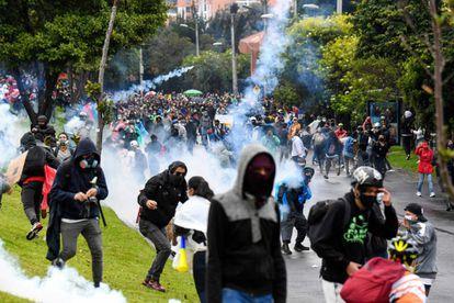 Una jornada de las jornadas de protestas contra el Gobierno de Iván Duque.