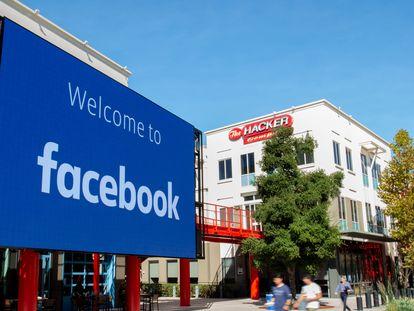 La sede central de Facebook en Menlo Park, California, en 2019.