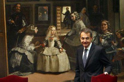 José Luis Rodríguez Zapatero durante el homenaje a las instituciones que protegieron el arte español durante la Guerra Civil.