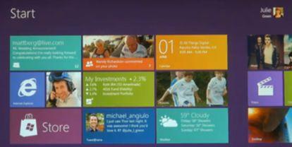 Imagen del vídeo de Microsoft sobre Windows 8 (http://www.youtube.com/watch?v=p92QfWOw88I)